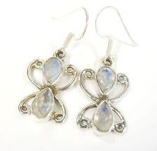 Moonstone Pear Drop/Dangle Natural Fine Earrings
