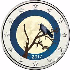 Finnland 2 Euro Münze Finnische Natur Nebelkrähe 2017 Gedenkmünze in Farbe