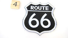 NEW Route Rt 66 Biker Sew On Patch 70mm B041-99 Motorcycle Chopper Crafts