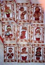 Set of 9 Hang Tags~Christmas Gingerbread Kids~Gift Tags~Scrapbook's~Card's~# 278R