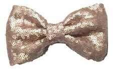 """Champagne large 5"""" sequin fabric bows / DIY baby headband & hair bow supplies"""