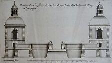 MAROT : Elévation d'une faces de l'entrée du pont levis du Château de Turny,1686