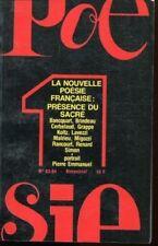 LA NOUVELLE POESIE FRANCAISE  N° 83 - 84   PRESENCE DU SACRE