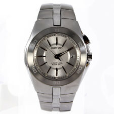 Seiko SKA201 stainless steal kenetic watch for men with power reserve indicator