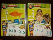 2 Addition & Subtraction Workbooks Reward Stickers Missing Pages are Laminated