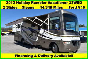 2012 Holiday Rambler Vacationer Used Gas Gas Motor Home Coach Motorhome MH RV