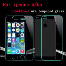Genuine Tempered Glass Screen Protector for iphone 5 & 5S - Front and Back 2Pcs