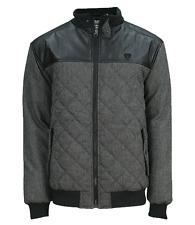 Soul Star Men's Quilted Jacket Warm Padded Short Fashion Coat S M L XL XXL Black