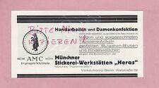 MÜNCHEN, Werbung 1928, AMC Münchner Stickerei-Werkstätten Heros