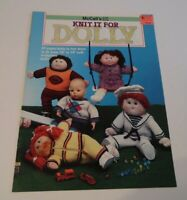 "McCall's Craft Book~Knit It For Dolly~Cabbage Patch Kids~16"" to 19""~Mint"