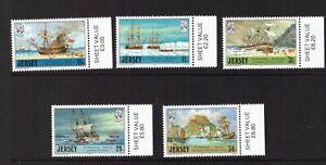 Jersey 1987 Ships set MNH mint stamps