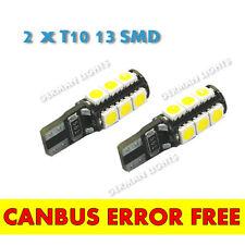 * 2 x T1013 Smd Bright CANBUS LED 501 W5W 13 SMD bianco lampadine sidelight senza errori