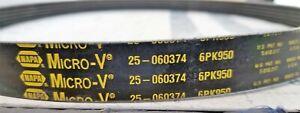25-060374, 6PK950 NAPA, Gates Micro-V Belt (BULK STOCK NO-SLEEVE) [Z3S3]