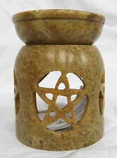 Large Soapstone Pentagram / Star Design Oil Burner - BNIB