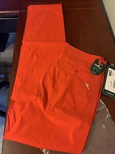 NWT Chervo Men's Orange Sghisso Stretch Golf Leisure Pants US 32 Italian 48 NEW
