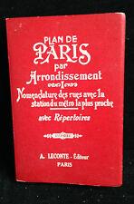 L15>  PLAN DE PARIS PAR ARRONDISSEMENT - 1964