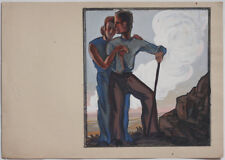 Fine 1920s by Heinz Wagner, expressive couple, estate stamp,