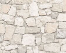 Brick Wallpaper Slate Stone Rustic Weathered Textured Embossed Sand AS Creation