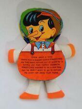 Vintage 1979 Dandee Cloth Flip Book Pinocchio Snow White Cloth Story Doll