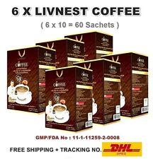 6X LIVNEST COFFEE Mixed Cordyceps Lingzhi Mushroom Healthy Refreshing Energy