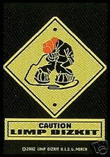 LIMP BIZKIT caution WOVEN SEW ON PATCH official merchandise no longer made