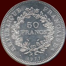 1977 France 50 Francs Silver Coin (30 grams .900 Silver)
