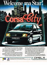 PUBLICITE ADVERTISING 044   1987   OPEL    CORSA CITY