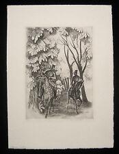 1924 Thomas Handforth Etching Print Algerian Riders SN
