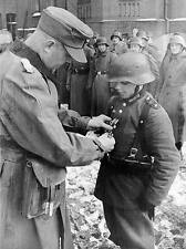 WWII B&W Photo Young German Soldier Medal  WW2 Wehrmacht World War Two  / 2049