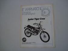advertising Pubblicità 1972 GARELLI JUNIOR TIGER CROSS