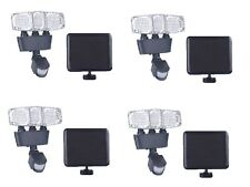 4-Pack Triple Head 182 LED 1300 Lumens Solar Power Motion Sensor Security Light