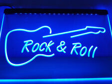Rock n Roll Guitar LED Neon Light Sign Bar Club Pub Advertise Decor Home Gift