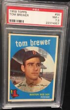Tom Brewer 1959 Topps #55 PSA 7.5 NM + Vintage Red Sox Low Pop 5 *E