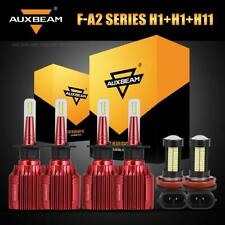 Auxbeam H1+H1 LED Headlight Bulbs+H11 Fog for Jaguar X-Type 04-08 Mazda 6 06-08
