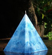 1KG 150hr AQUAMARINE & OAKMOSS Scented 4 SIDED PYRAMID CANDLE Table Centrepiece