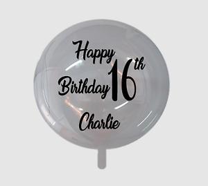 Balloon Vinyl Sticker Decal Bobo Foil Latex Happy 16th Birthday Personalised