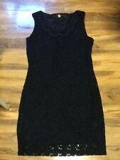 Pussy Cat Ladies Black Lace Sleeveless Dress Size L