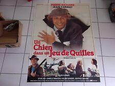 affiche originale 120 x 160 film Un chien dans un jeu de quilles (Pierre Richard
