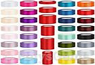 25 METRES FULL REEL SATIN RIBBON 6MM 12MM 25MM 38MM 50MM 75MM 100MM
