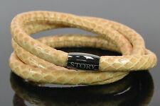 STORY by Kranz & Ziegler Armband Schlangenleder beige 61cm Wickelarmband; K1 15