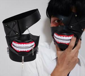 Anime Tokyo Ghoul Ken Kaneki Mask Halloween Party Fancy 3D Rubber Cosplay Prop