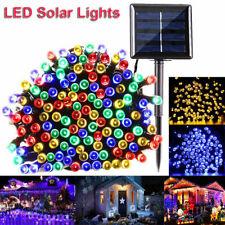 170ft 500 LED luz de cadena de energía solar al aire libre Jardín Navidad Fantasía Decoración de Navidad