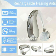 New Rechargeable Digital Hearing Aids Assistance Mini Severe Loss BTE Ear Aids