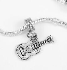Guitar charm only guitar mariachi charm best jewelry gift fits European items