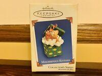 2005 Hallmark Keepsake Ornament - Mischievous Kittens 7th In Series