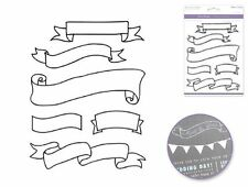 Forever in Time Clear Cling Rubber Stamp Banners Awards Ribbons