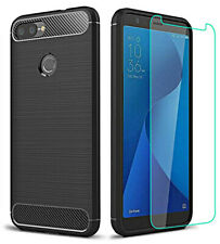 Cover for Asus Zenfone Max Plus M1 ZB570TL Soft Case Original Carbon Fiber