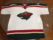 Minnesota Wild White Short Sleeve Hockey Jersey NHL CCM Inaugural Design 9e9ca02c3