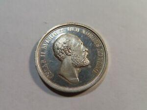 O81 Sweden c.1885 Silver Shooting Medal 33.8mm