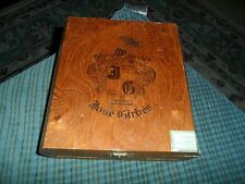 Vintage JOSE GIRBES Wood Cigar 25 Churchills Display Box VG !
